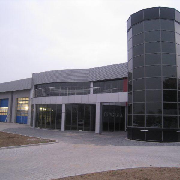 Budynek Salonu i serwisu AMS  IVECO
